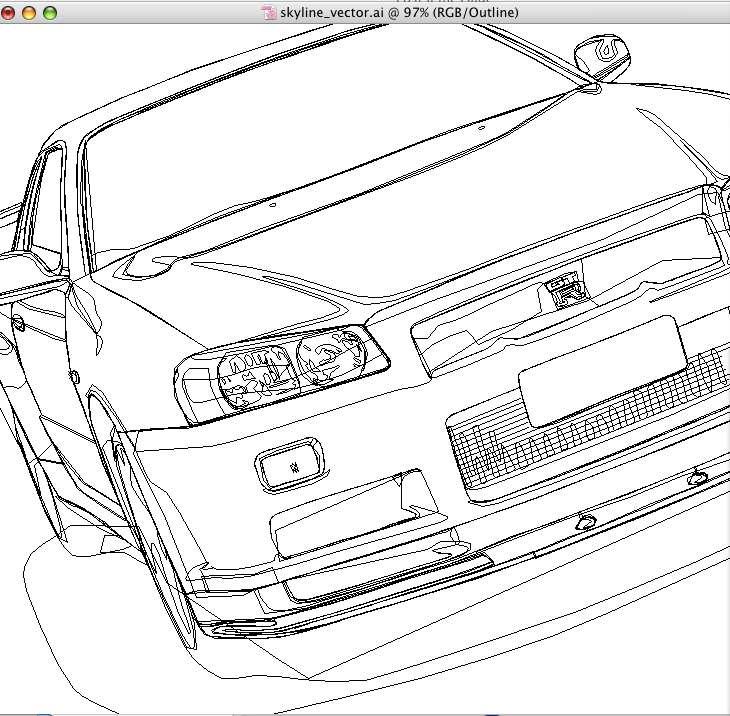 Nissan Gt R R35 Sketch Templates